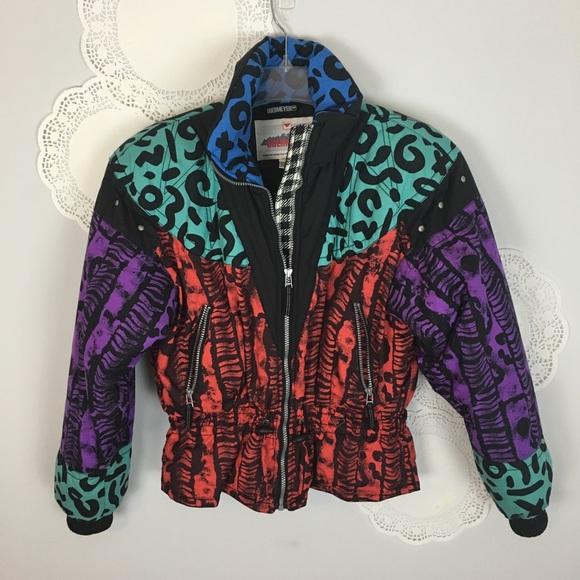 37e1790c84fb Obermeyer Jackets & Coats   Vtg 80s Ski Jacket Size 10 Leopard Print ...